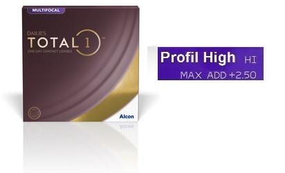 Dailies Total 1 Multifocal High 90L