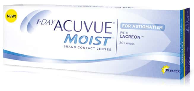 1 Day Acuvue Moist for astigmatism 30L